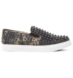 Emmmaa-s studded camouflage-print skate shoes  Eleete patent skate shoes