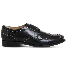 Billie studded leather brogues  Flexi elastic-detail leather Oxford shoes Flexi elastic-detail paten