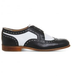 Billie two-tone leather brogues  Flexi elastic-detail leather Oxford shoes Flexi elastic-detail pate