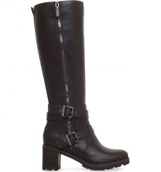 Lana heeled leather boots  Ava leather and sheepskin boots Bess buckled leather boots Jessia turn-up