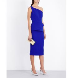 Anerley wool-crepe dress  V-neck knitted midi dress Crystal-embellished stretch-crepe gown Off-the-s