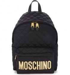 Logo quilted nylon backpack  Capsule-print backpack Leather jacket backpack Mini quilted backpack Qu