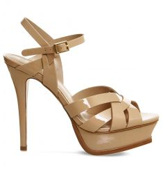 Nostalgia patent-leather heeled sandals  Midtown cross-over heeled sandals Angel patent strappy sand