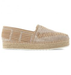 Chancee leather flatform espadrilles