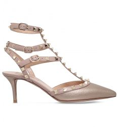 Rockstud 65 leather courts  So Noir 65 patent-leather heeled sandals