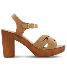 Jani suede platform sandals  Jani suede platform sandals Judo leather heeled sandals Judo metallic l