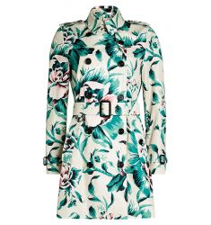 Printed Cotton Trench Coat